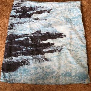 Anthropologie HD in Paris ocean blue & gray skirt